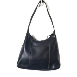 Nine west faux leather black hand bag purse